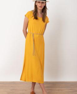 μουσταρδί φόρεμα Midi Artonomous 1