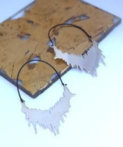 Σκουλαρίκια ασημένια Σταθοπούλου Artonomous 1