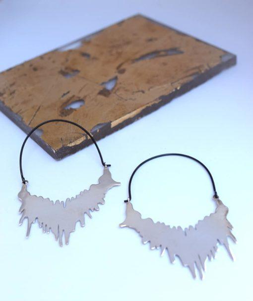 Σκουλαρίκια ασημένια Σταθοπούλου Artonomous 2