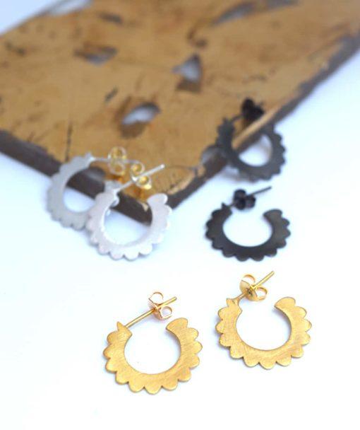 Small Hoop Earrings Black Artonomous 5