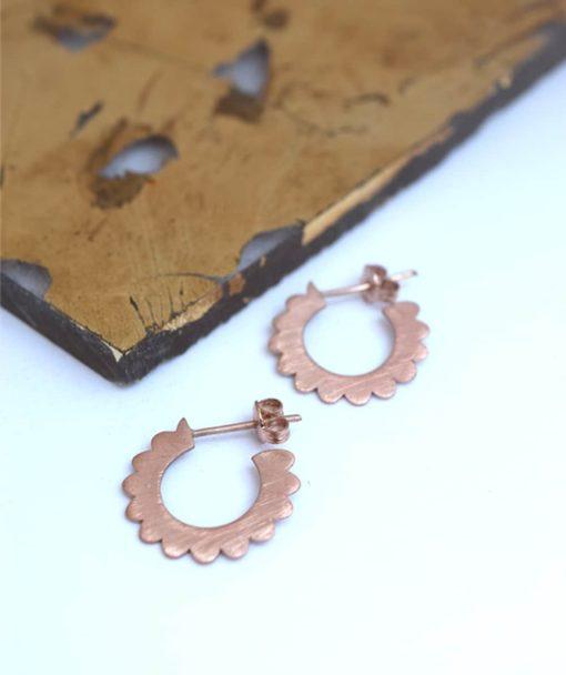 Small Hoop Earrings Rose Gold Artonomous 1