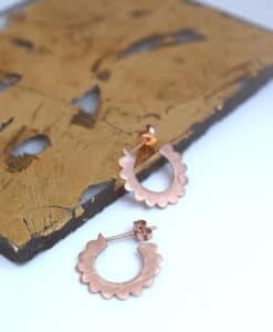 Small Hoop Earrings Rose Gold Artonomous 2