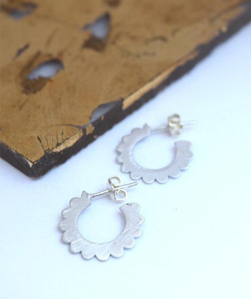 Small Hoop Earrings Silver Artonomous 1