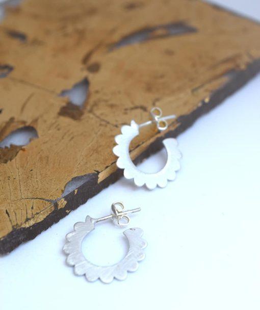 Small Hoop Earrings Silver Artonomous 2