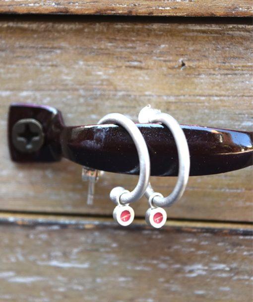 Silver Earring Enamel Prigipo Artonomous 1