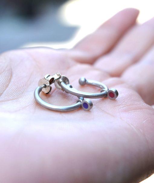 Silver Earring Enamel Prigipo Artonomous 3