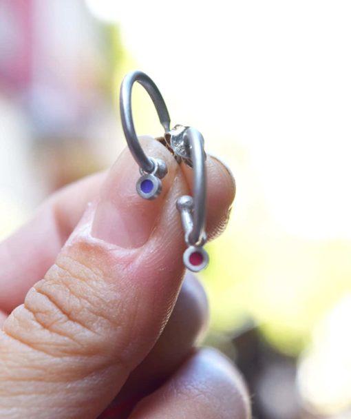 Silver Earring Enamel Prigipo Artonomous 4