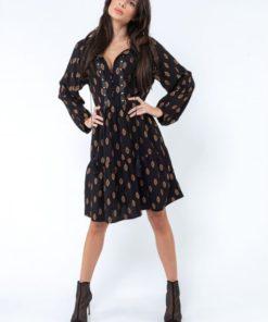 Boho μαύρο φόρεμα 1 Poeta Artonomous 1