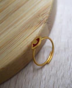 Evil Eye Ring Enamal Red Prigipo Artonomous 1