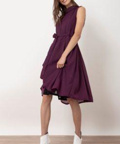 φόρεμα πουά μοβ Helmi Artonomous 1