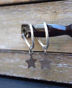 Hoop Earrings Silver Star Artonomous1