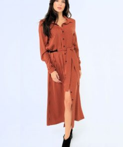 Midi Brown Dress Artonomous 2