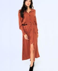 Midi Brown Dress Artonomous 2