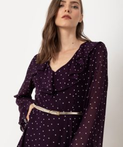 μοβ φόρεμα Helmi Artonomous 2