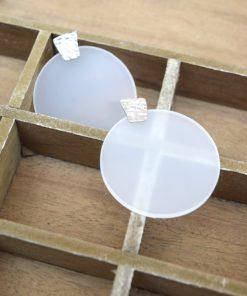 Plexglass Disk Earrings Silver Artonomous 3