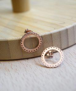 Rose Gold Stud Earrings Prigipo Artonomous 3