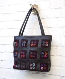 καφέ δερμάτινη τσάντα Artonomous 2