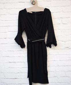 μαύρο φόρεμα με ζωνάκι Artonomous 1