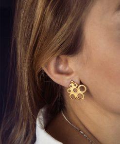 Gold Plated Silver Earrings Zoi Kampouri Artonomous