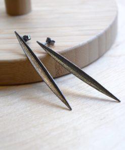 Rhodium Plated Earrings A Handmade Artonomous 1
