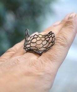Rhodium Plated Ring Artonomous 2