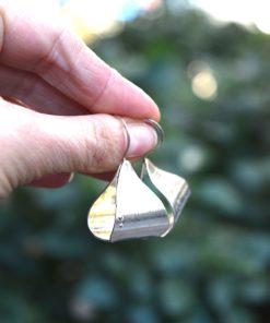 Σκουλαρίκια ασήμι οβάλ