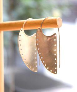 Σκουλαρίκια ασήμι ασπίδες διάτρητες