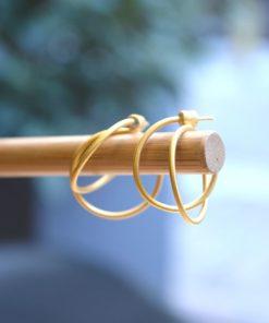 Double Hoops Silver Gold Plated Prigkipo Artonomous 2