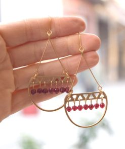 Gold Plated Brass Earrings Dea Artonomous3