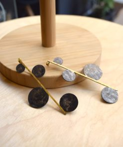 Gold Plated Phodium Plated Brass Earings Artonomous