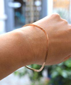 Pink Gold Plated Silver Bracelet Artonomous