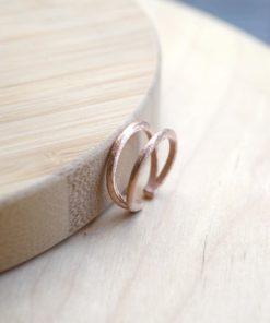 Pink Gold Plated Silver Chevalier Ring Tsaplali Artonomous