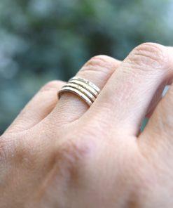 Ασημένιο δαχτυλίδι σφυρήλατο