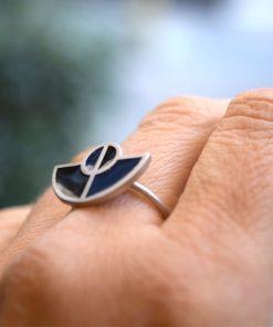 Πριγκιπώ δαχτυλίδι ασήμι σμάλτο