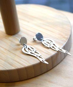 Feather Earrings Silver Kampouri Zoi Artonomous 1