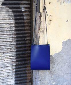 Leather Cross Body Blue Bag Artonomous 4