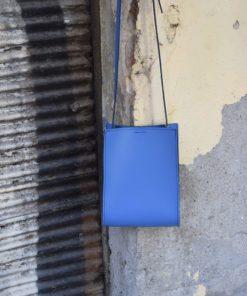 Leather Cross Body Blue Indigo Bag Artonomous 4
