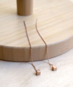 Pink Gold Plated Silver Earrings Eleni Tsaprali Artonomous
