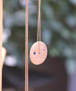 Pink Gold Plated Silver Necklace Tsaprali Artonomous 3