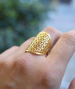 Ring Gold Plated Silver Kampouri Zoi Artonomous 2