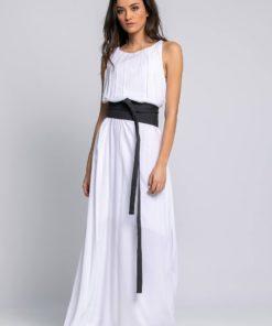 Φόρεμα Maxi λευκό 01