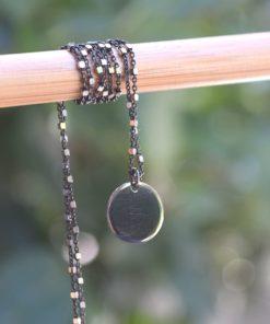 Rhodium Plated Silver Necklace Errikos Artonomous4