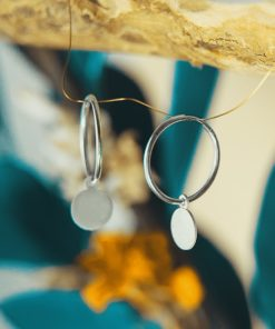 Silver Earrings Hoops Tsaprali Artonomous