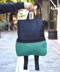 Fabric Backpack Black Green Artonomous03