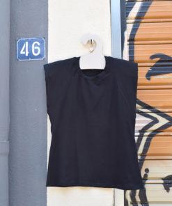 Μαύρο T Shirt με Βάτες