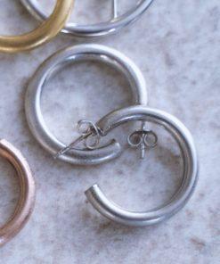 Hoop Earrings Silver 2