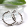 Σκουλαρίκια Ασήμι Γυαλιστερο- Κρίκοι