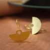 Bangle Earrings Gold Plated Brass Artonomous 1f