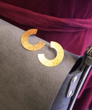 Gold Plated Brass Hoop Earrings Artonomous 3c