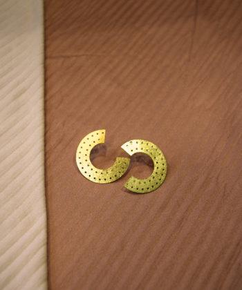 Gold Plated Brass Hoop Earrings Artonomous 4c